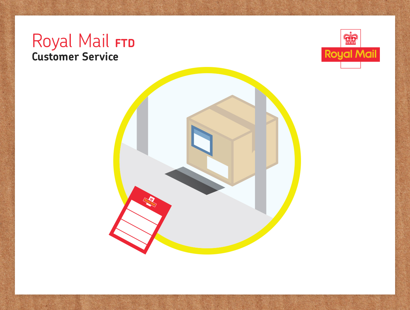First Time Delivery Icon designed by me & alan for Royal Mail