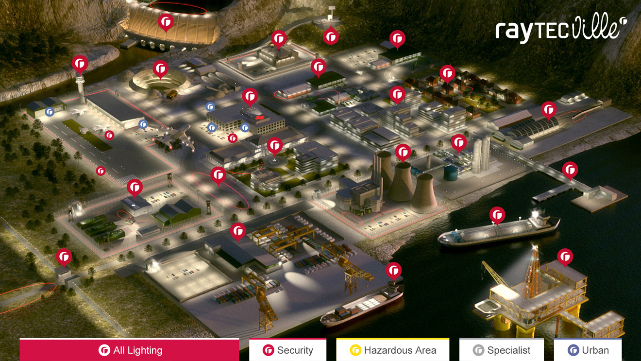 Interactive city for Raytech final screenshot with controlls